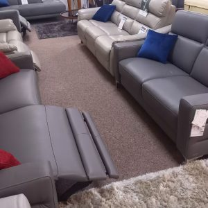 Roma – 3 seater power recliner and 2 seater static